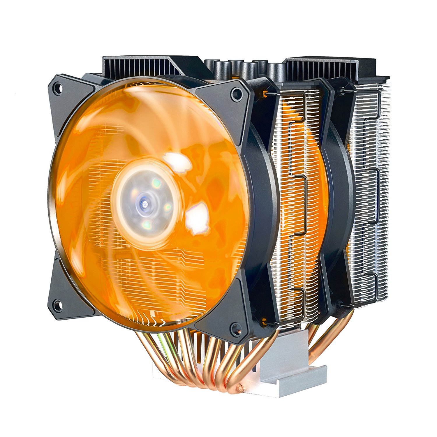 Cooler Master MasterAir MA621P (TR4 Specific) Twin-Tower RGB CPU Air Cooler 6 Heatpipes, Dual MasterFan MF120R 120mm RGB Fans (MAP-D6PN-218PC-R2)