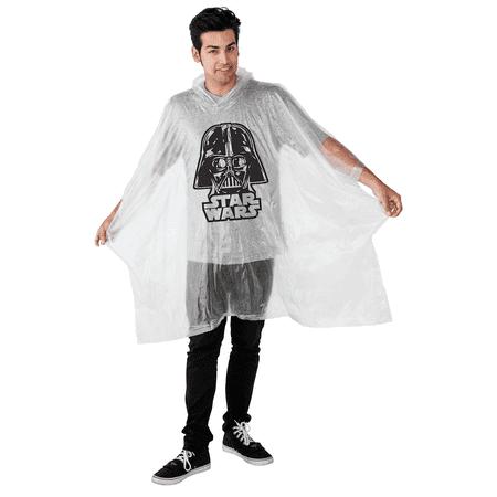 Waterproof Star - Star Wars Darth Vader Adult Men Clear Waterproof Raincoat Poncho