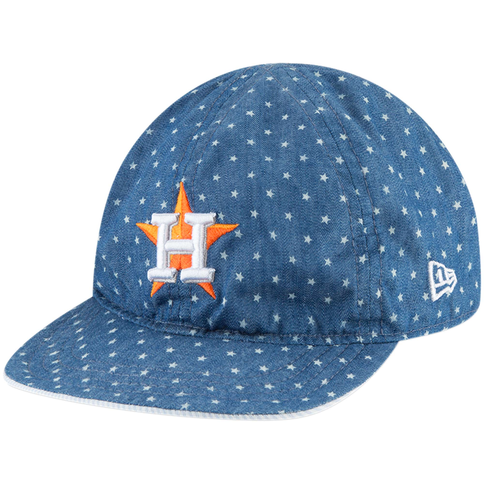 Houston Astros New Era Toddler Flip 9TWENTY Adjustable Hat - Denim - OSFA