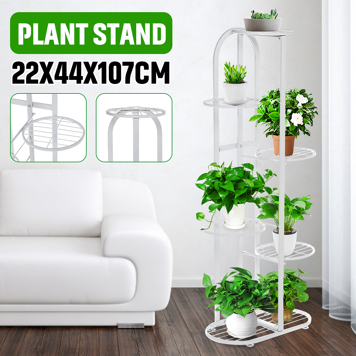 Multi-functional 6 Tier Metal Plant Stand & Flower Pot