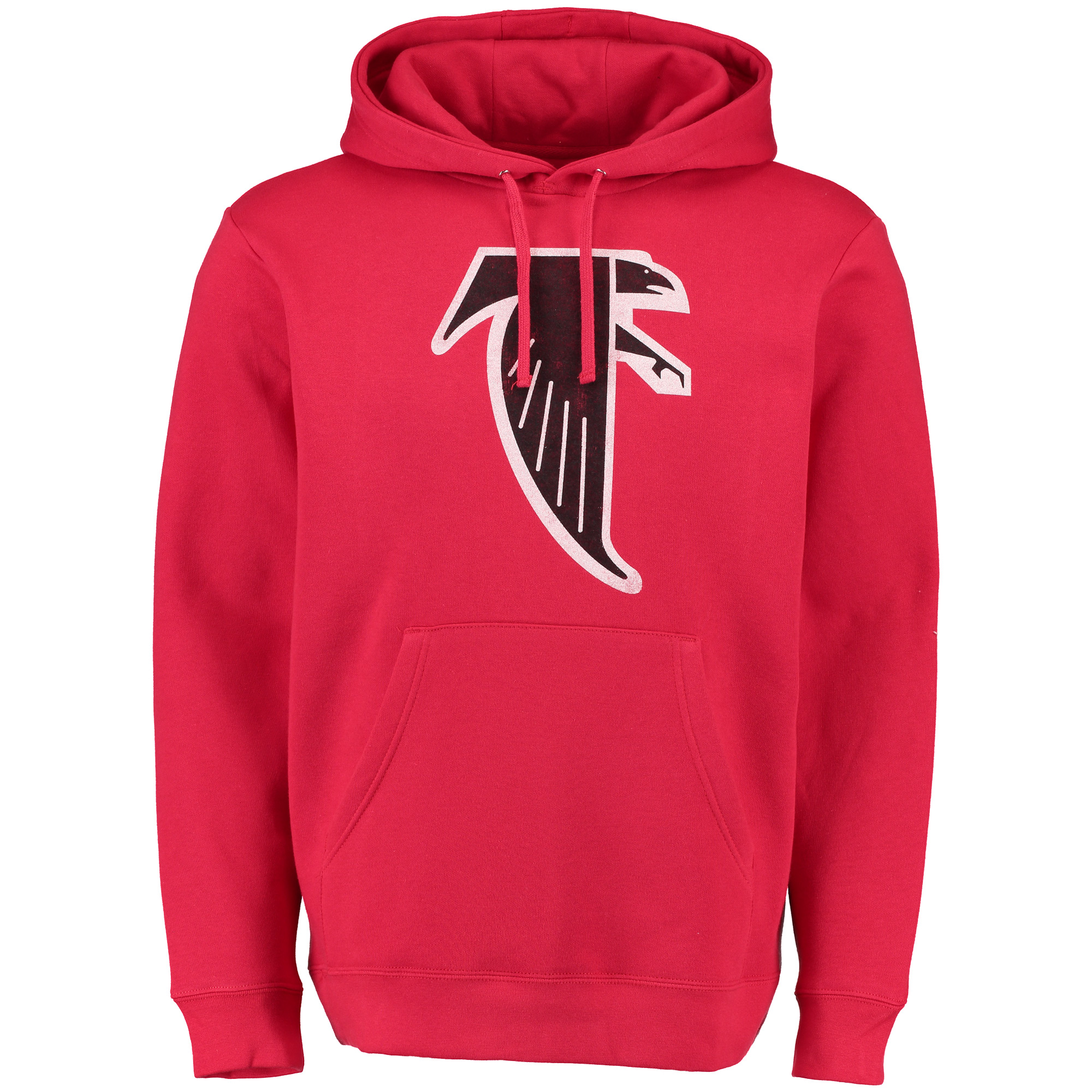 a61a725c Atlanta Falcons NFL Pro Line Throwback Logo Pullover Hoodie Sweatshirt - Red