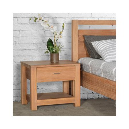 Grain Wood Furniture Loft Solid Wood 1-drawer Nightstand Weathered Pine