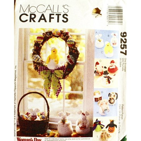 McCall's 60 Crafts Sewing Pattern Bunny Chick Santa Mrs Claus Enchanting Mccalls Craft Patterns