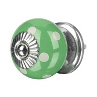 Ceramic Knobs Drawer Round Pull Handle for Home Cupboard Wardrobe Dresser Door Replacement Green