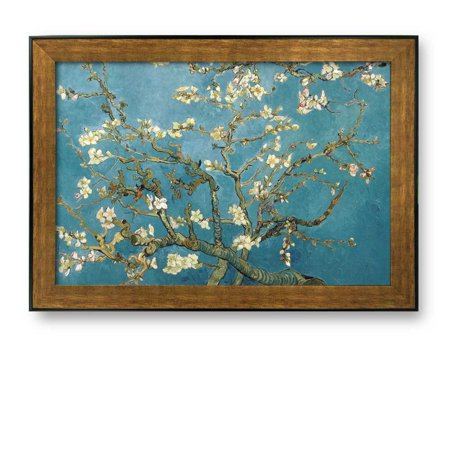 Framed Art Prints - Almond Blossoms by Vincent Van Gogh Interpretation in Original Reproduction Famous Painting Wall Decor -16