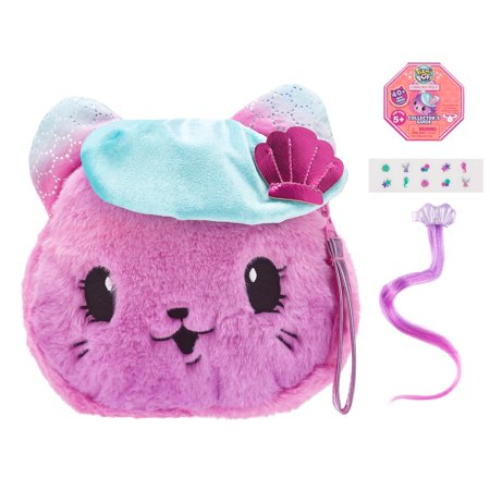 "Pikmi Pops Cheeki Puffs, Kitty Couture the Cat, Large 7"" Scented Shimmer Plush Toy"
