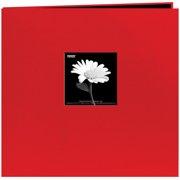 "Book Cloth Cover Post Bound Album 12""X12""-Red"