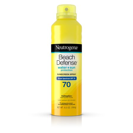 Neutrogena Beach Defense Body Spray Sunscreen Broad Spectrum Spf 70  6 5 Oz
