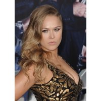 Ronda Rousey At Arrivals For The Expendables 3 Premiere Stretched Canvas -  (8 x 10)