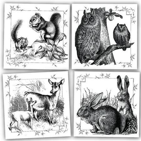 Mixed Media Canvas (Canvas 24404 6 x 6 in. Mixed Media Origins Mini Art Yard Animals, 4)