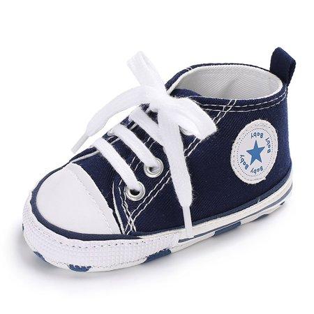 Newborn Baby Boys Girls Canvas Soft Sole Anti-slip Baby Shoes Walking Shoes - image 2 de 9