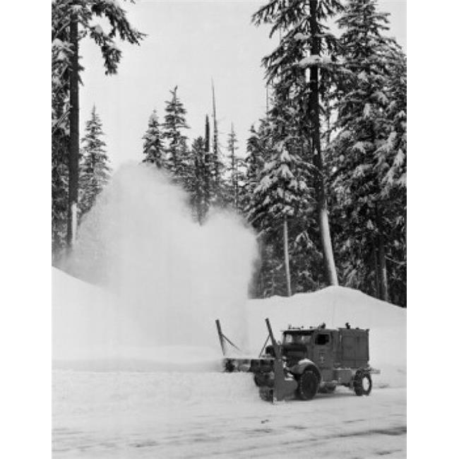 Posterazzi SAL25549956 Snowplow on a Road Washington State USA Poster Print - 18 x 24 in. - image 1 de 1