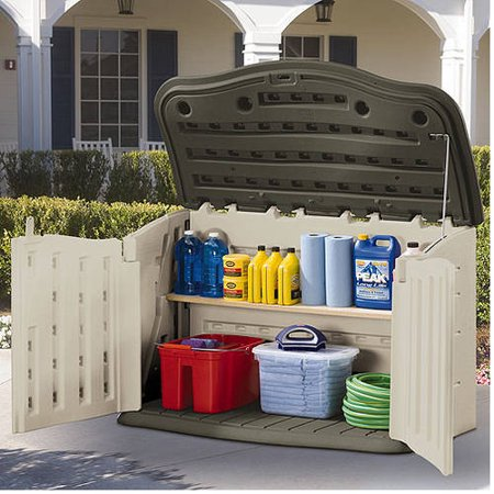 Rubbermaid Horizontal Storage Shed, Olive & Sandstone