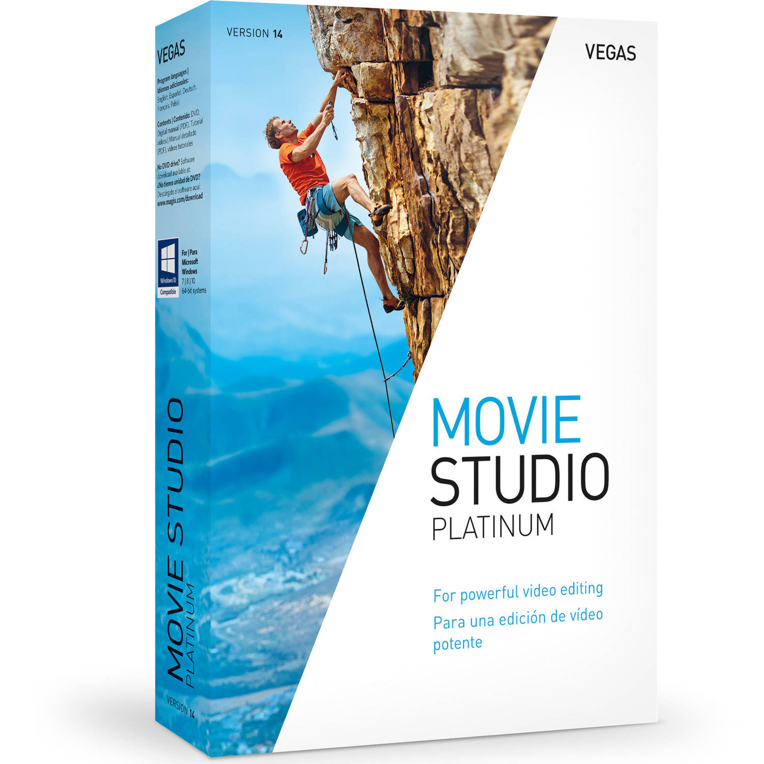 Magix Software ANR007551ESD Vegas Movie Studio 14 Platinum ESD (Digital Code)