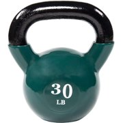 Everyday Essentials All-Purpose Color Vinyl Coated Kettlebell, 30 Pounds