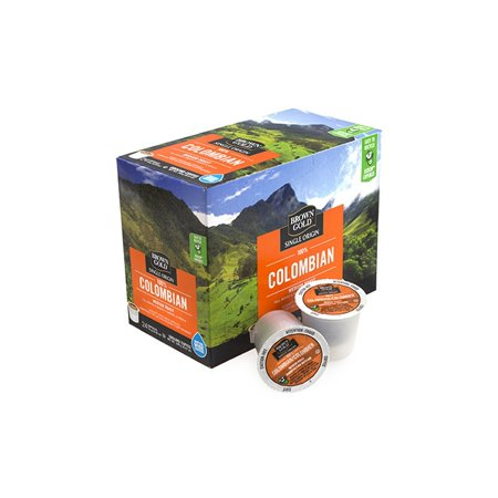 Brown Gold Coffee 100% Colombian, RealCup portion pack for Keurig K-Cup Brewers (Brown Coffee)
