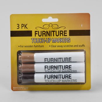 FURNITURE TOUCH UP REPAIR MARKER 3ASST WOOD COLORS BLISTER, Case Pack of (Best Way To Strip Paint Off Wood Furniture)