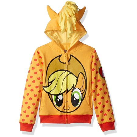 My Little Pony Girls' Apple Jack Costume Zip-up Hoodie - Costume Apple