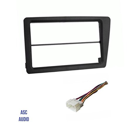 ASC Audio Car Stereo Dash Install Kit and Wire Harness for installing an Aftermarket Double Din Radio for 2002 2003 2004 2005 Honda Civic SI (SI model only) ()