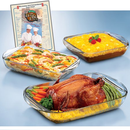 Anchor Hocking Expressions 4 Piece Bakeware Set by