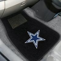 Dallas Cowboys 2-Piece Embroidered Car Mat Set