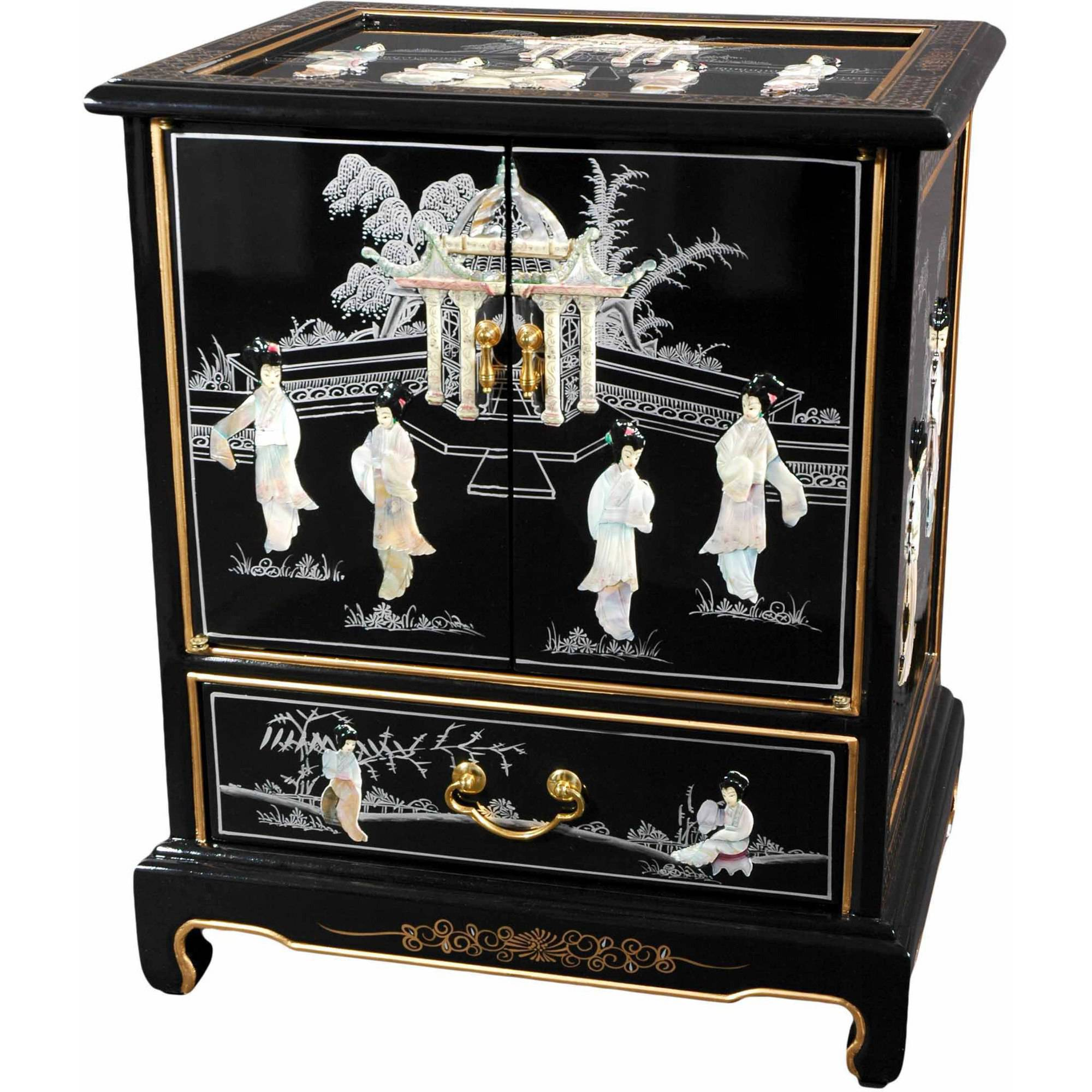 Black Lacquer End Table