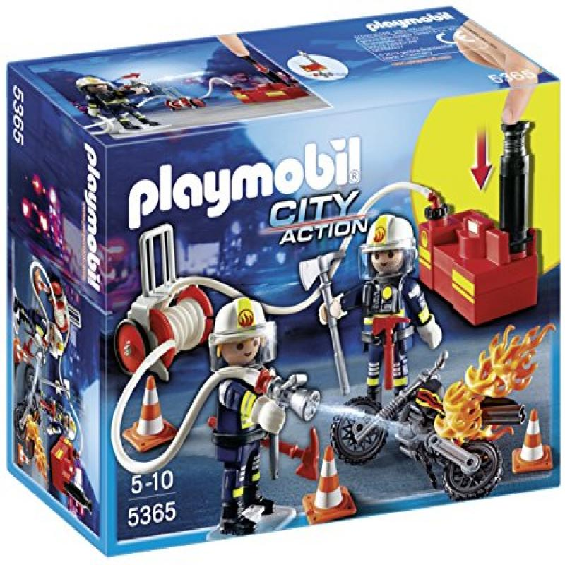 PLAYMOBIL Firefighters with Water Pump Set by