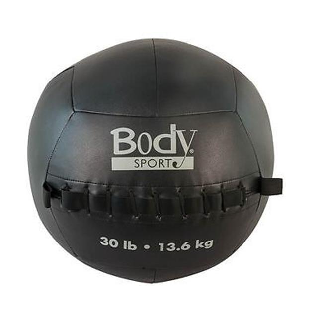 Body Sport ZZRMB30WB 30 lbs Wall Ball, Black