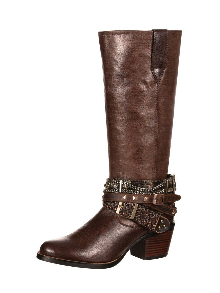 Durango Western Boots Womens Philly Accessorized Straps Brown DRD0073 by Durango