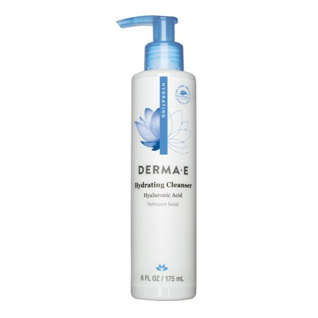 Derma E Hydrating Cleanser, with Hyaluronic Acid, Face Wash for Dry/Normal Skin