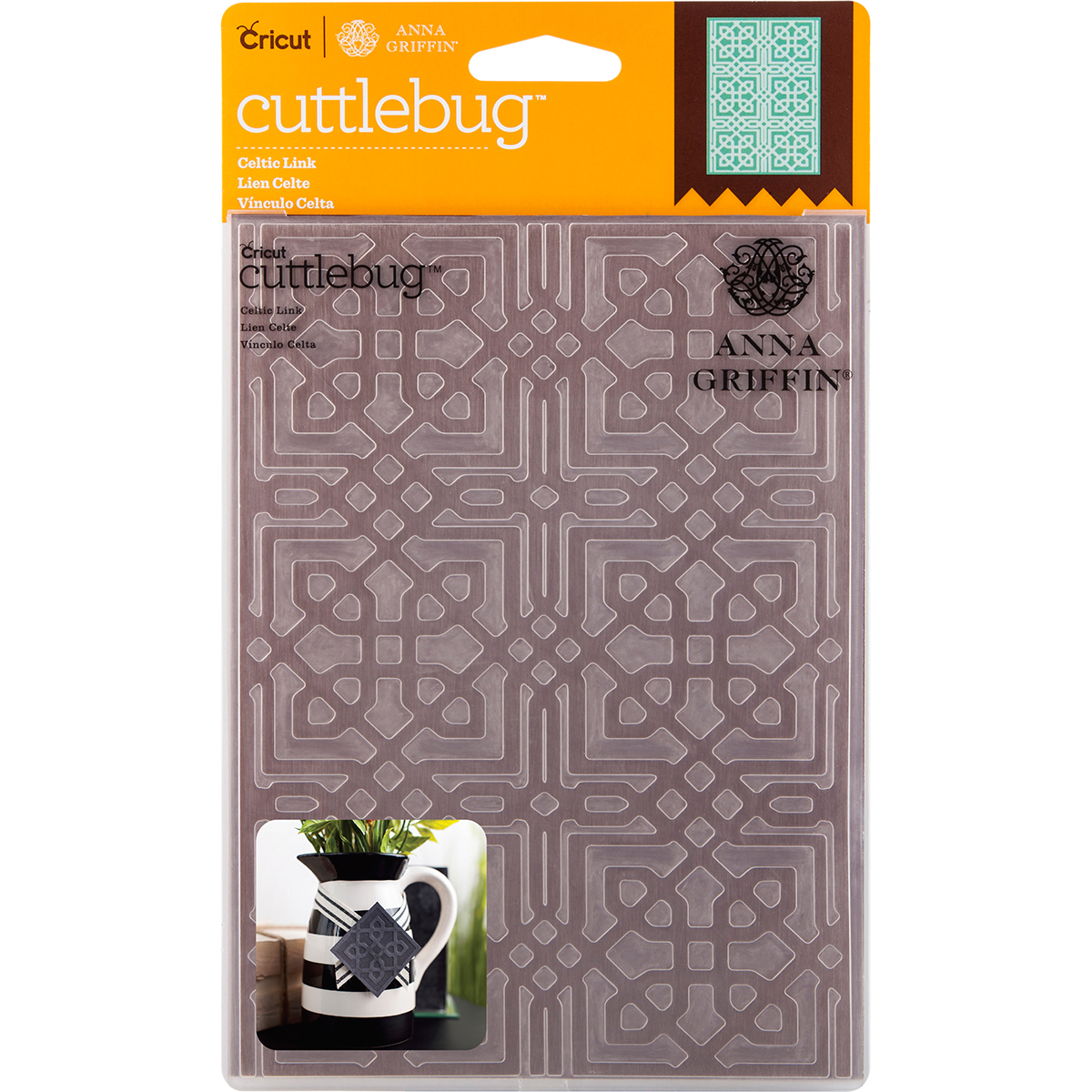 "Cuttlebug 5"" x 7"" Embossing Folder By Anna Griffin, Celtic Link"