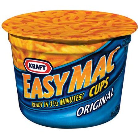 Kraft Macaroni & Cheese Dinner Easy Mac 2.05 OZ Cups, 10 count ...