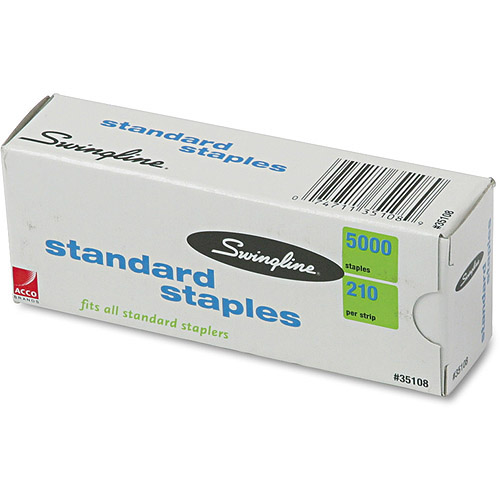 Swingline S.F. 1 Standard Economy Chisel Point 210 Full Strip Staples, 5000/Box