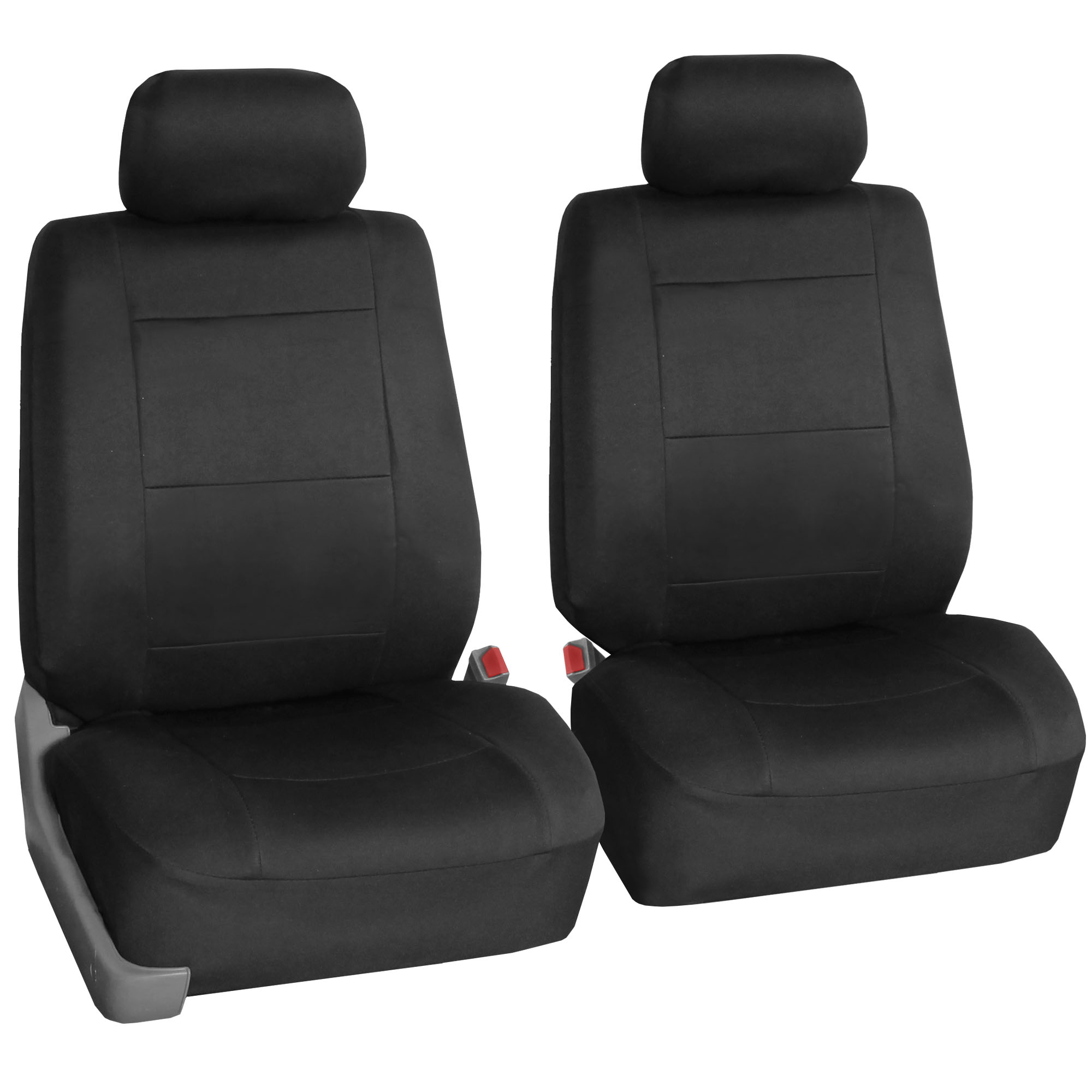 FH Group Neoprene Seat Covers for Sedan, SUV, Truck, Van, Two Front Buckets, Black
