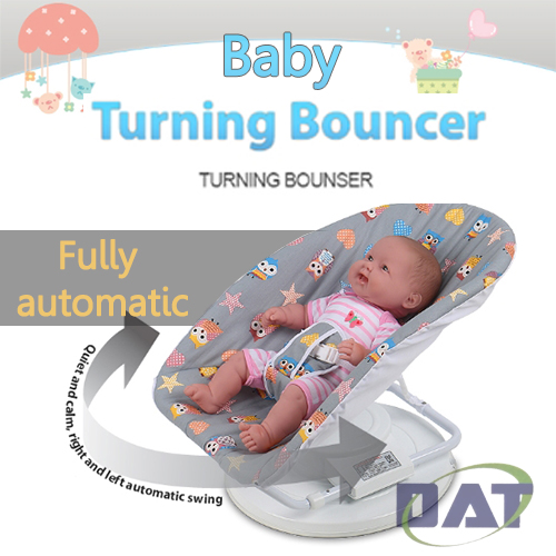 DAT Baby Auto Turning Bouncer WHITE by DAT