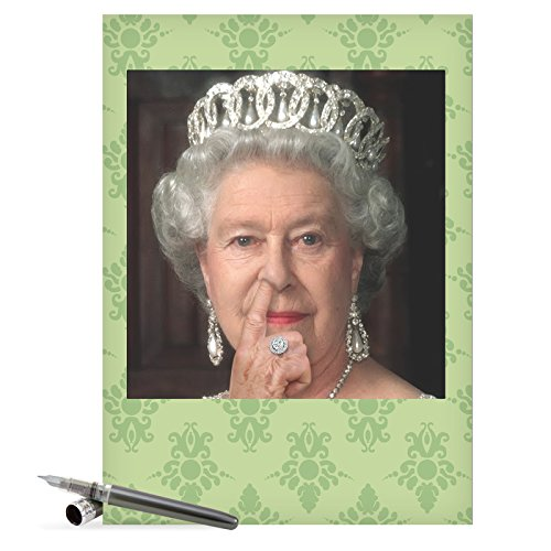"J8082 Jumbo Humorous Birthday Card: 'Queen Picks Her Nose' with Envelope (Large Size: 8.5"" x 11"")"