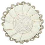 Expo Braided Hemp Loop Round Applique