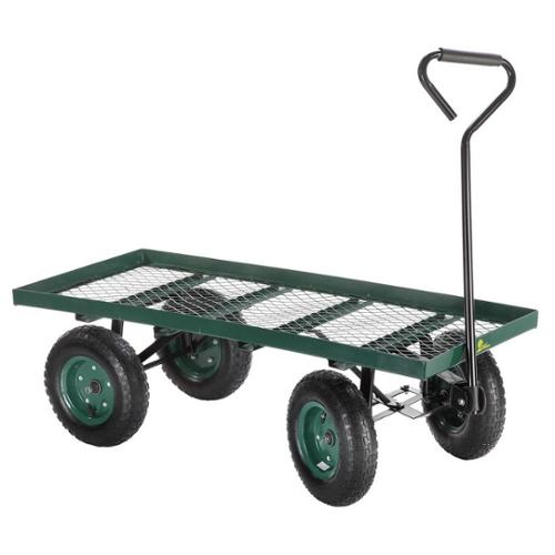 Palm Springs Heavy Duty Flatbed Garden Cart /Utility Wagon - 400lbs Max Capacity