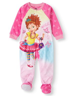 Fancy Nancy Toddler Girl Microfleece Blanket Sleeper Pajamas
