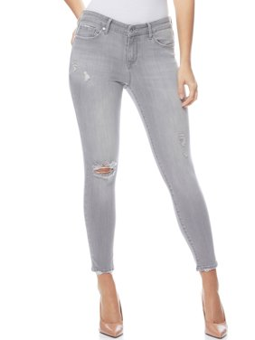 Sofia Jeans by Sofia Vergara Sofia Skinny Mid Rise Destructed Stretch Ankle Jeans, Women's