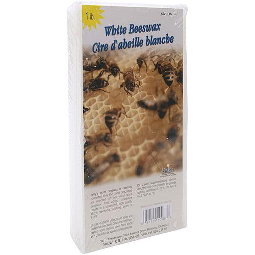 Beeswax 1 Pound Block, White