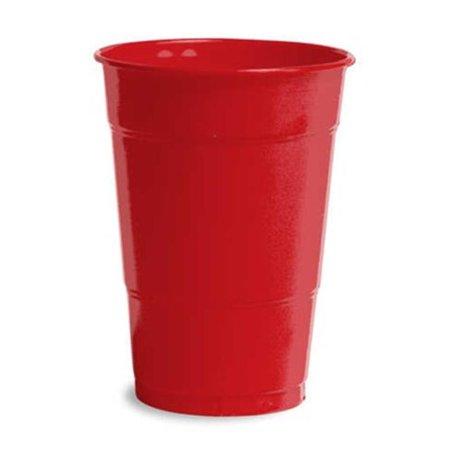 Hoffmaster Group 28103181B 16 oz Plastic Bulk Cups, Classic Red - 50 per Case - Case of - Red Plastic Cups Bulk