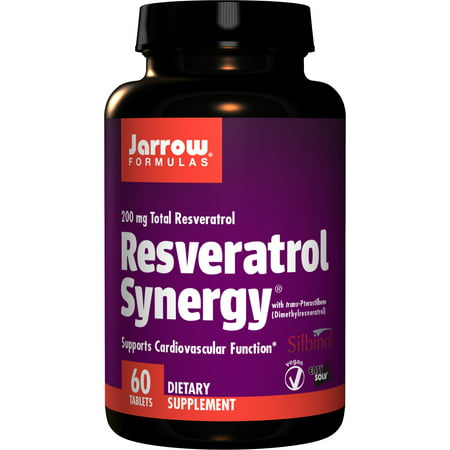 Jarrow Formulas Resveratrol Synergy, Supports Cardiovascular Function, 60 Easy-Solv Tabs (Support 200 Tabs)