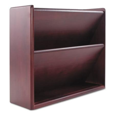 - Carver Hardwood Double Wall File, Letter, Two Pocket, Mahogany -CVR09623