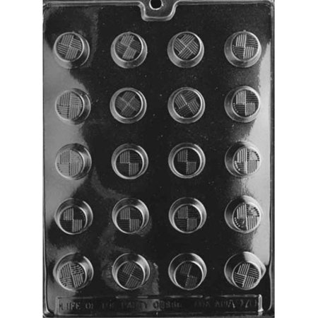 Cybrtrayd Life of the Party AO070 Traditional Round Chocolate Candy Mold in Sealed Protective Poly Bag Imprinted with Copyrighted Cybrtrayd Molding Instructions