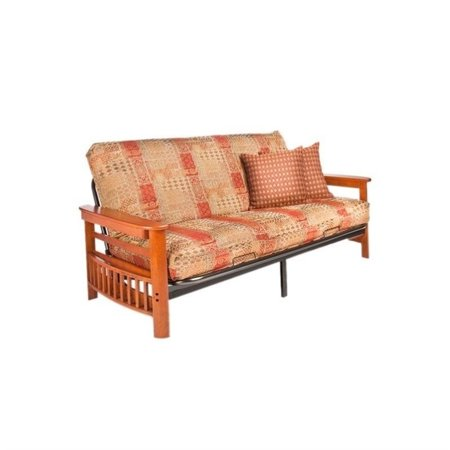 Night And Day Portland Full Wood Metal Futon In Cherry