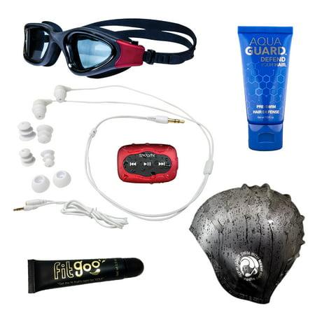 Swimbuds Waterproof Headphones and SYRYN Waterproof MP3 Player ()