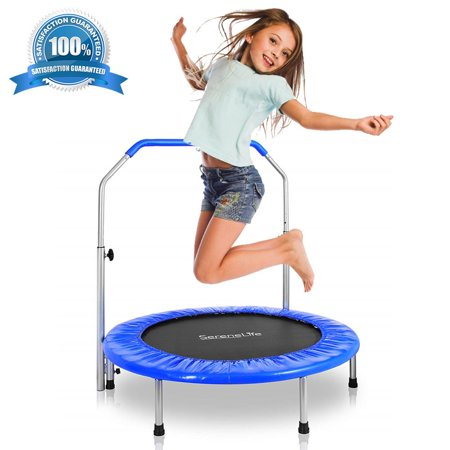 SereneLife SLSPT365 - Jumping Fun Sports Trampoline, Kids Size