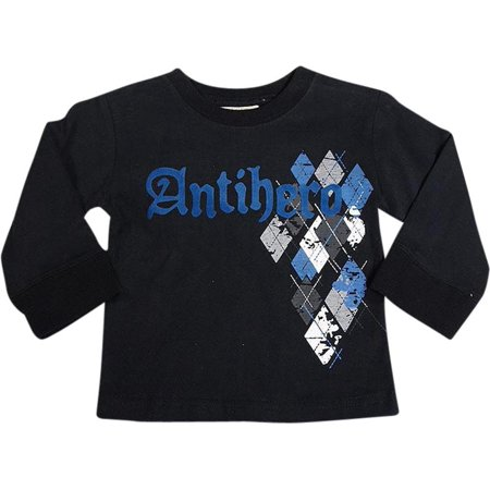Mish Mish Baby Infant Boys Long Sleeve Graphic Tee Shirt Top Many Colors, 34502 black / 12Months