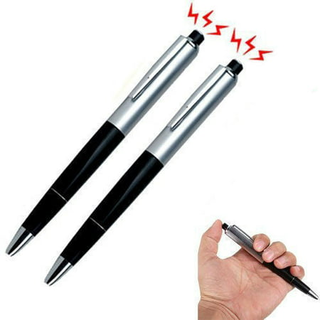 2X Shocking Electric Shock Novelty Metal Pen Prank Trick Joke Gag Toy Gift (Funny Pranks To Pull On Your Boyfriend)